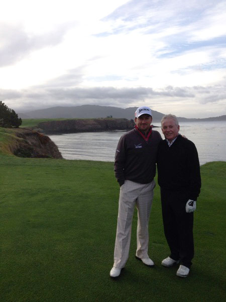 "@graeme_mcdowell: Pretty cool returning to the ""scene of the crime"" here at Pebble with my dad. #blessed"