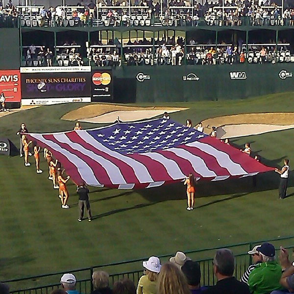 @billbogan: America! #greenestshow #wastemanagement #phoenixopen