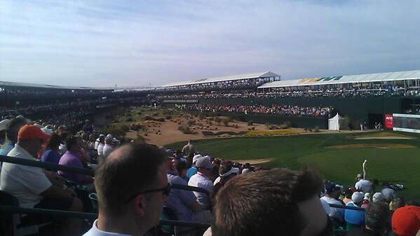@Ty_Stover: We made it! Hole 16 at @WMPhoenixOpen