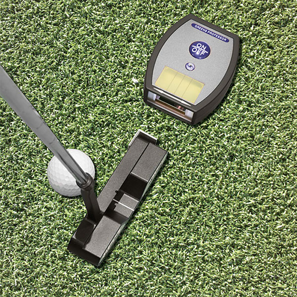 The Greens Professor ($60; intheholegolf.com)                           The Greens Professor is a putting training aid to help perfect your putting stroke. Using a laser, this training aid provides you with instant feedback on your alignment, putting stroke and more.