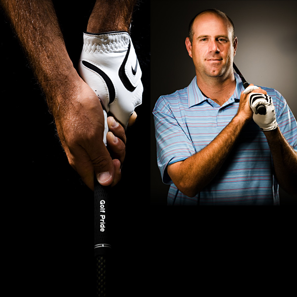 "Stewart Cink                       I used 10 fingers, like a baseball bat, until I learned to interlock when I was eight. I've held it the same way ever since. I see this all the time at pro-ams: Someone will have to bend it around trees, or hit a high bunker shot. I'll say, ""You need to close it down, or open it up,"" and they simply turn their hands. You should turn the club, then grip it again with your normal grip."