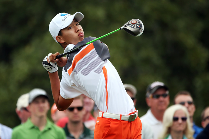 Tianlang Guan, 14, finished as the low amateur.
