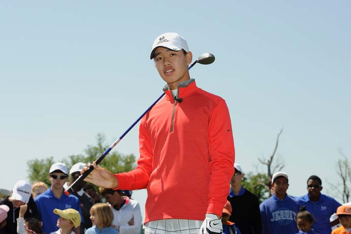 """There's Wi-Fi in the Crow's Nest.""                       --14-year-old Guan Tianlang on how he did his homework during the Masters."