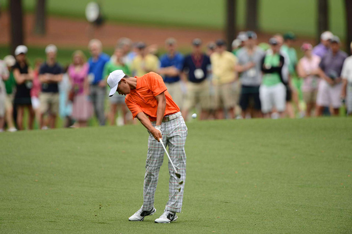 Tianlang Guan, 14, was penalized one-stroke penalty for slow play, but he was able to make the cut on the number.