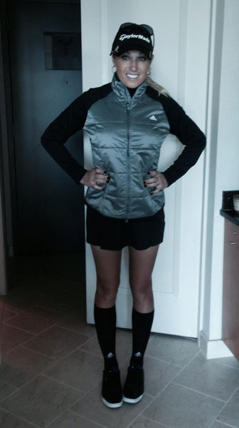 @thejessicakorda: @natalie_gulbis looking cute in her Korean inspired Adidas outfit