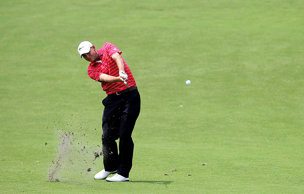 Bill Haas: C                            Record: 1-3-1                           Took 4 of 5 matches to 18th hole, made solid contribution.