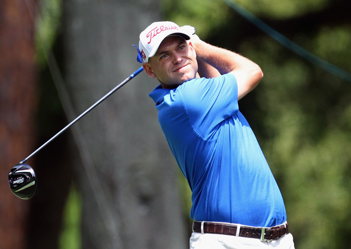 Bill Haas made three birdies and a bogey for a two-under 69.