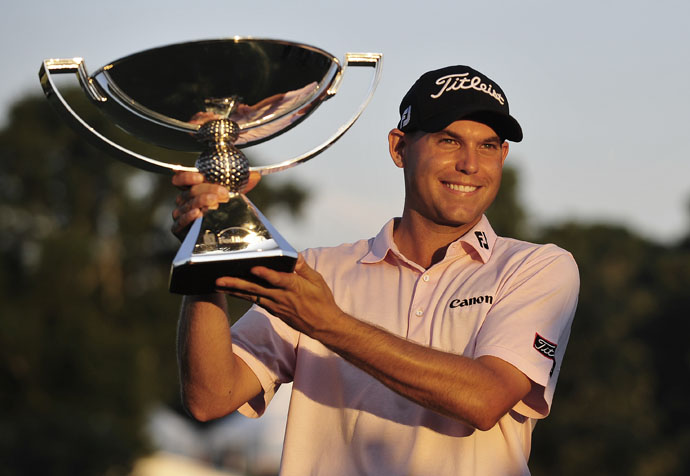 September 2011: The FedEx Cup (and 10 million bucks) goes to Bill Haas, a long-putter adoptee.