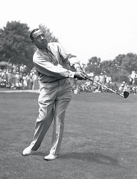"Walter Hagen: The Haig was golf's great barnstormer, a self-styled bon vivant who showed up for exhibitions in a dinner jacket with an overnight blonde on one arm and a clingy brunette on the other. (All for effect, he would later claim.) ""Golf has never had a showman like him,"" said Gene Sarazen, his friend and rival. Nor has golf had a freer spender than Hagen, who traveled first class and frequented the finest hotels and eateries. ""I never wanted to be a millionaire,"" he explained in his autobiography. ""I just wanted to live like one."""