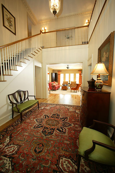 Hickory hardwood floors are found on the main level, as well as custom millwork and moldings.