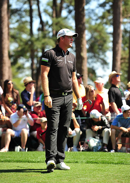 Onetime leader Peter Hanson of Sweden also adopted a zipped, modern look while tying Mickelson and others for third.