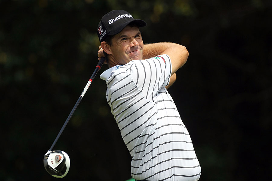 Padraig Harrington set the course record on Thursday, but he struggled to back it up on Friday.