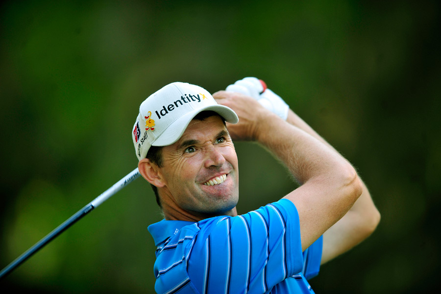 Padraig Harrington shot a one-over 72 to miss the cut.