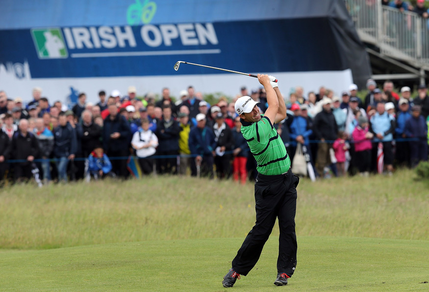 Padraig Harrington was two shots back after a five-under 67.