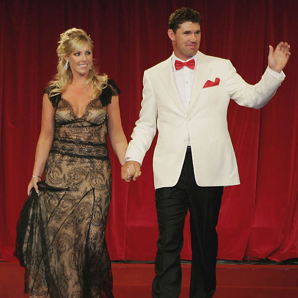Caroline Harrington, with husband Padraig Harrington.