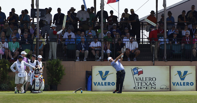 Padraig Harrington moved into contention with a two-under 70.