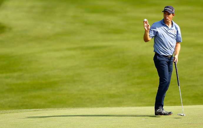 Padraig Harrington made four bogeys and two birdies for a 72.
