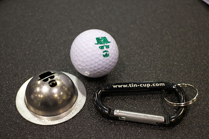 """I'm playing the Heisenberg..."" The best ball stencil we've ever seen was at the Tin Cup Marker booth at the PGA Merchandise Show. Available for $19.95 at Tin-Cup.com."