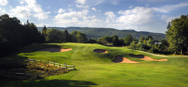 Cape Breton Highlands Links | Ingonish Beach, Nova Scotia                       Green fees: $65.84-$106.34                       800-441-1118, highlandslinksgolf.com