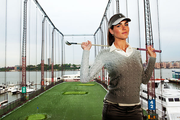 "No. 1 Golf Date: Hilary Rhoda                           ""The range would be a great first date, but you'd better be able to hit it farther than me.""                                                      Sports Illustrated swimsuit model Hilary Rhoda, 23, is the face of Estee Lauder."