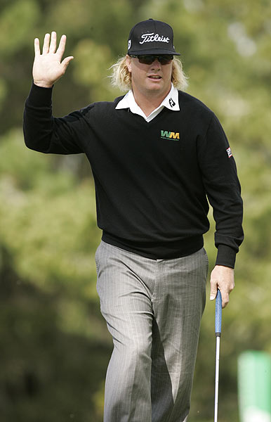 Charley Hoffman is one stroke off the lead after a bogey-free 6-under 66.