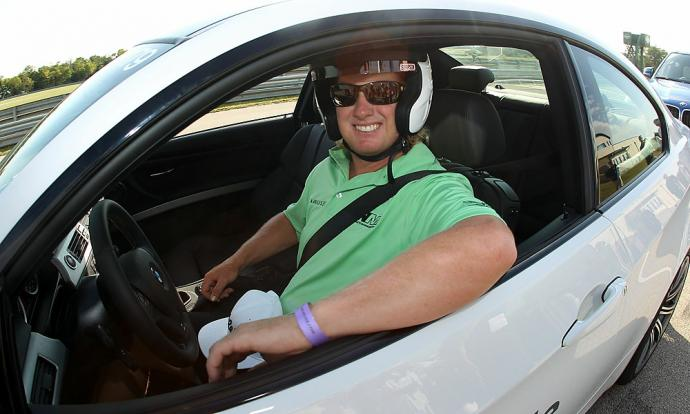 Charley Hoffman also took a BMW for a test drive.