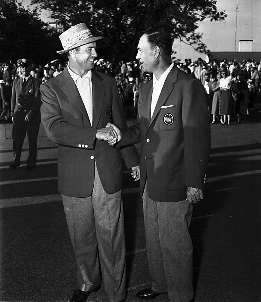 At the 1954 Masters, Hogan lost to Sam Snead by a shot in an 18-hole playoff.