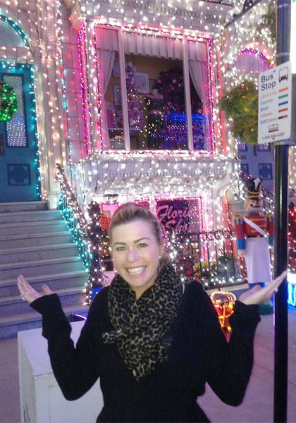 Paula Creamer visited Disney's Osbourne Family Spectacle of Dancing Lights.