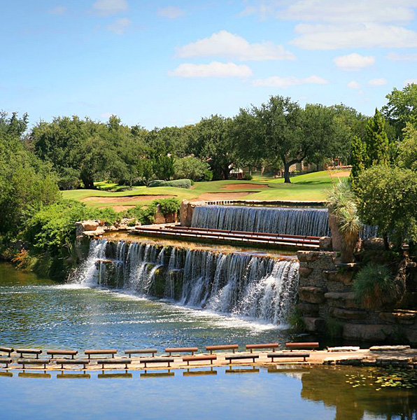 Horseshoe Bay (Slick Rock) -- Horseshoe Bay                           The original Robert Trent Jones creation at Horseshoe Bay dates to 1972, but what never gets old is the remarkable par-4 14th that whisks golfers on a ride through a waterfall that spans 35 yards. ($100-$150; 830-598-2561, hsbresort.com)