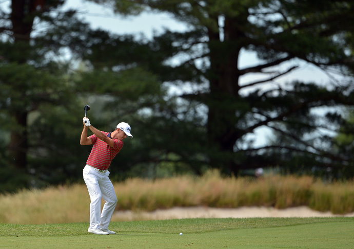 Horschel hit all 18 greens on his way to a three-under 67.
