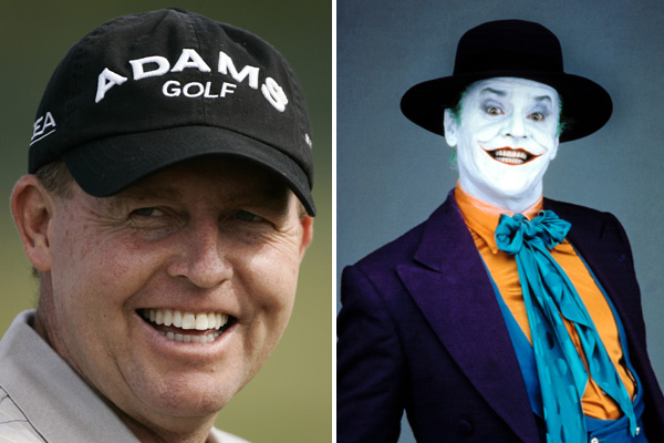 "Scott Hoch and Jack Nicholson as ""The Joker"""