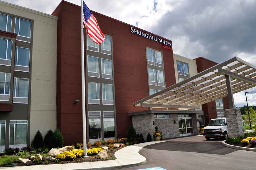 The Marriott Springhill Suites hotel is located on Arnold Palmer Drive and just minutes from Latrobe C.C.