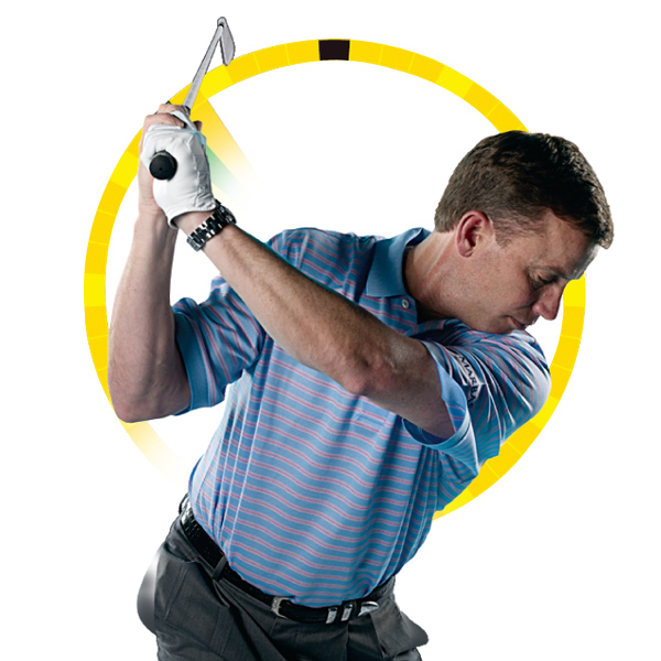 Fat — Cup your left wrist to point the clubface at the back of your head. Maintain this open clubface position and  you'll hit a controllable fade.