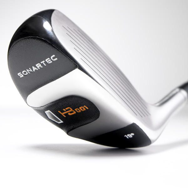 "Sonartec HB-001                       $169, graphite; sonartec.com                                              • Go to Equipment Finder profile to tell us what you think and see what other GOLF.com readers said about this club.                                              We tested: 19° in UST iRod HB-80                       graphite shaft                                              Company line: ""The first hybrid to                       incorporate proven rail technology                       for effortless playability from any lie.                       It delivers optimal high launch and                       low spin for consistent ball flight. A                       neutral face angle promotes a square                       clubface at address.""                                              Our Test Panel says: Lower flight and                       compact head is a low-handicapper's                       dream; slightly deeper face allows                       punch shots; feeling of power and                       stability at impact; average carry but                       rolls forever; superb feel on chips — heavy, dense and substantial; bad                       swings are punished.                                              Love the ability to work this club. It's limited only by your imagination.—Mark Haberstroh, 5 Handicap"