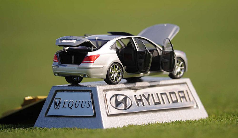 These exact replicas at this year's Hyundai Classic were rumored to cost $1,000 each.