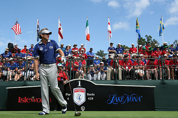 Poulter halved his match against Woods and Charles Howell III.
