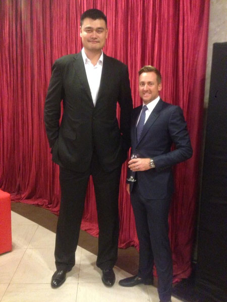 @IanJamesPoulter:  HSBC Champions dinner Yao Ming what a legend.