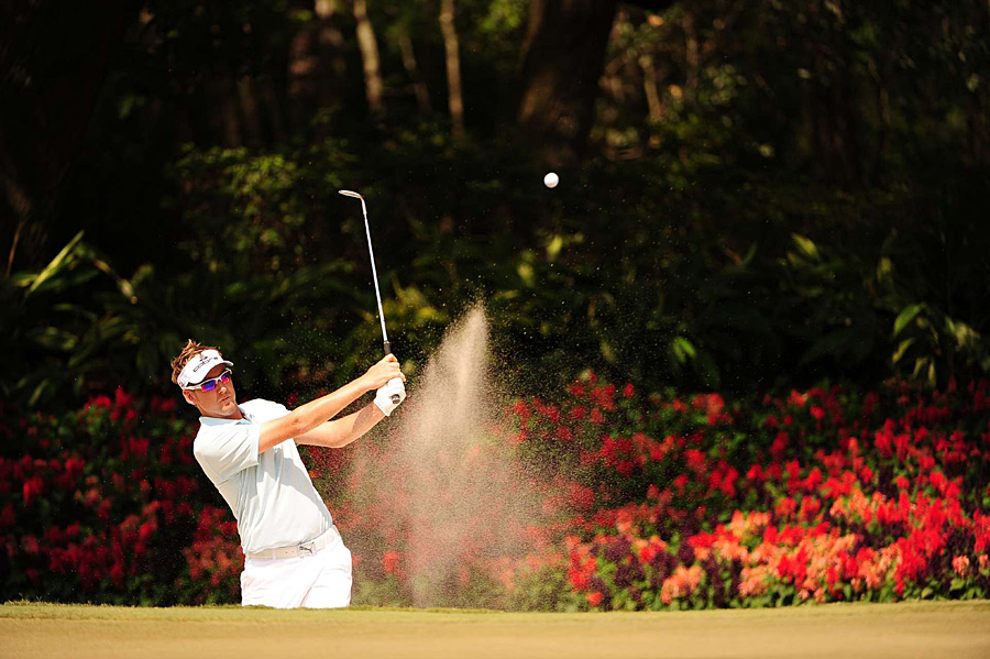 Ian Poulter made five birdies and four bogeys for a 71.