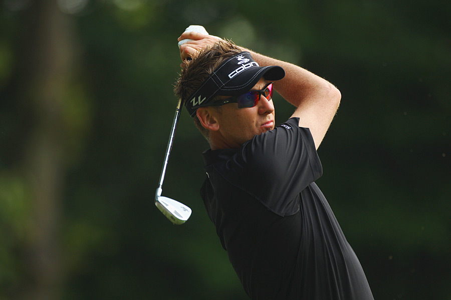 Ian Poulter had an eagle, four birdies, three bogeys and a double bogey for a 71.