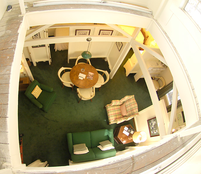 Also known as Bobby Jones's attic, the Crow's Nest at Augusta National is a top-floor bunkhouse with five beds and a sitting area. Traditionally, it houses amateurs during the tournament.
