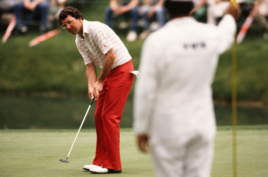 Hale Irwin: 1983 British Open                           Irwin whiffed on a two-inch putt on the 14th hole at Royal Birkdale in the third round. He would finish one stroke behind winner Tom Watson. (Irwin photo is from the 1983 Masters.)