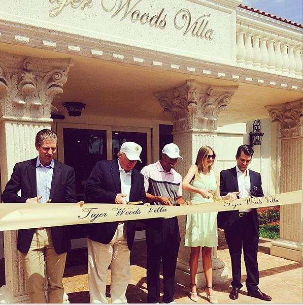 @ivankatrump With @tigerwoods at the dedication of his namesake villa at @trumpdoral