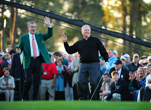 Nicklaus urged his ball past Palmer's. He outdrove him by a bit.