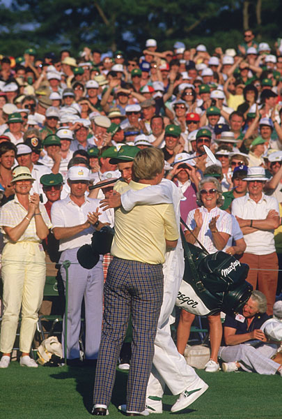 Nicklaus's win was especially poignant because his son, Jackie, was on the bag.