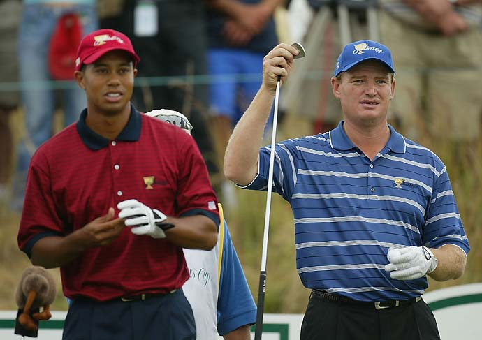"""To this day it is the greatest sporting event with which I have ever been involved.""                           --Jack Nicklaus on the 2003 Presidents Cup, which ended in a tie when Tiger Wood and Ernie Els [photo] played sudden-death holes into darkness."