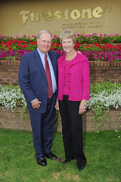 """Golf has always been a game to me. Not my life. My life is my family. Golf is a game.""                           --Jack Nicklaus, in photo with wife Barbara, in response to question from junior golfers at Atlanta Athletic Club."