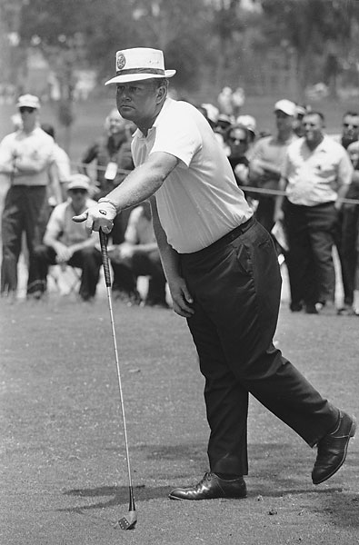 "Jack Nicklaus                       18-time major champion. Nicklaus, seen here at the 1965 New Orleans Open, was called ""Fat Jack"" until he got serious about his fitness and shed 20 pounds after feeling tired at the 1969 Ryder Cup."