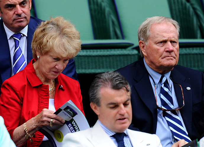 The great Jack Nicklaus spent some time in the royal box at Wimbledon this year with his wife, Barbara.
