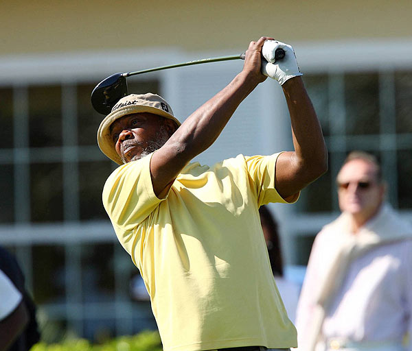 Samuel L. Jackson teed off at the Ocean Club.