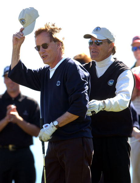 James Woods, Bel-Air Country Club, Los AngelesWoods, left, and singer Glen Campbell, right, after winning the 2003 celebrity shootout at the AT&T Pebble Beach Pro-Am.